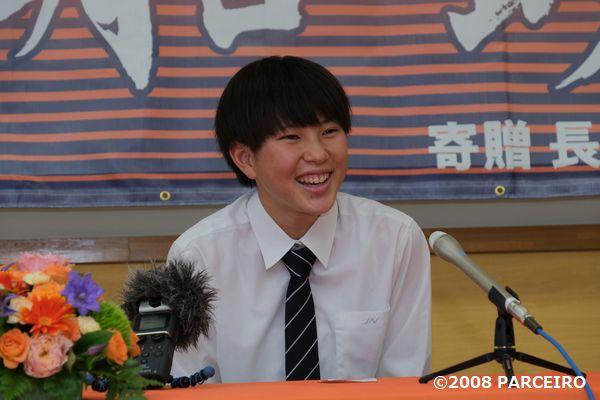 川船暁海選手の来季トップ昇格内定記者会見を、長野市立長野高等学校で開催させていただきました